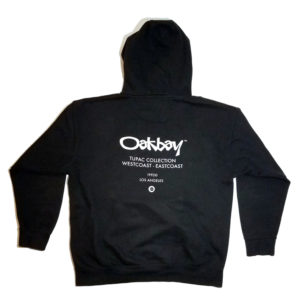 Oakbay Fits Mens Tupac Collection hoodie black back